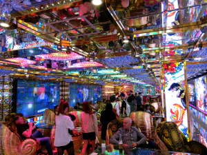 robot restaurant decor